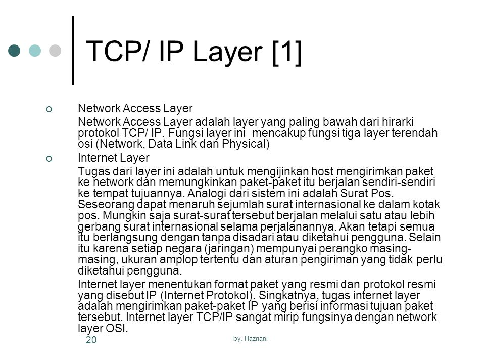 TCP/ IP Layer [1] Network Access Layer